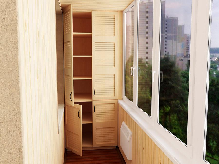 """Шкаф на балкон в Челябинске """"статус плюс""""."""